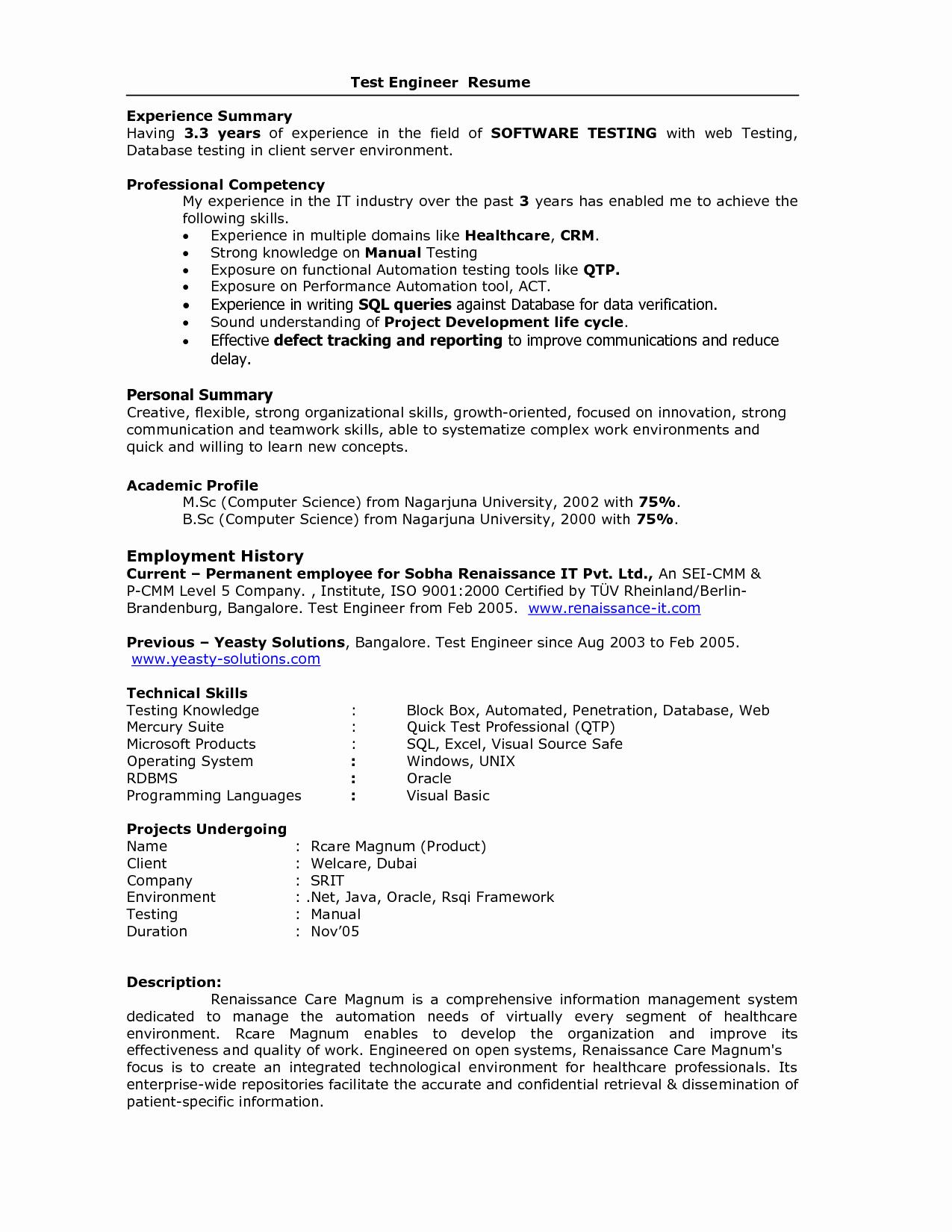 Embedded Engineer Resume 2 Year Experience Bongdaao
