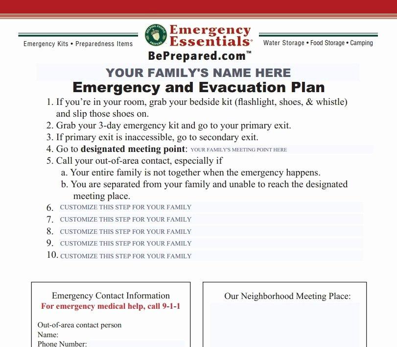 Emergency Evacuation Checklist Template Templates