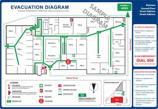 Emergency Evacuation Floor Plan Sample Templates