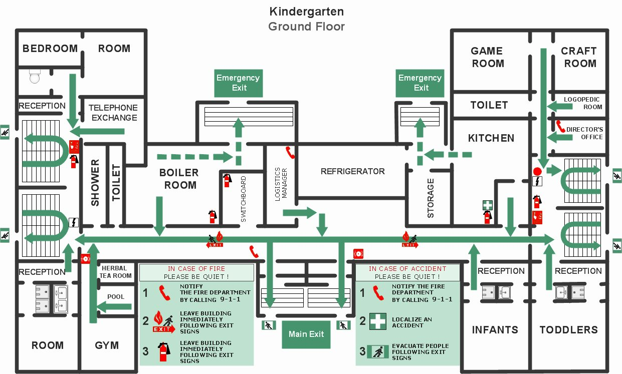 Emergency Evacuation Floor Plan Template Templates