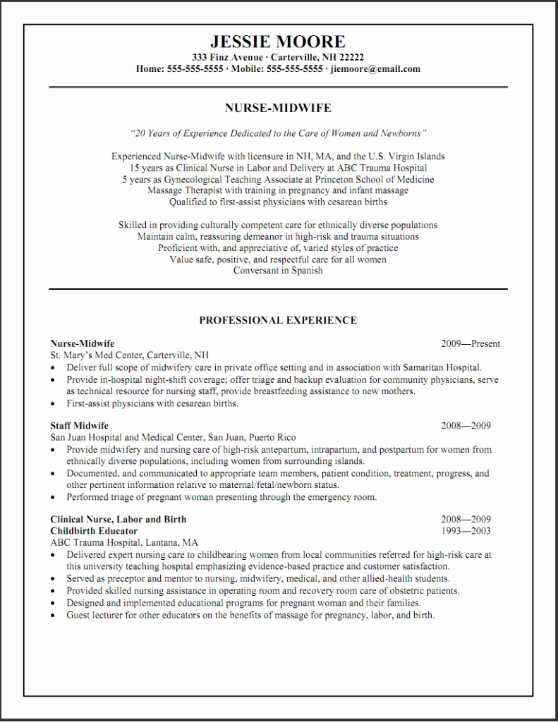 Emergency Room Nurse Resume Templates