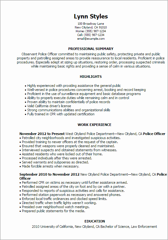 Emergency Services Resume Templates to Impress Any