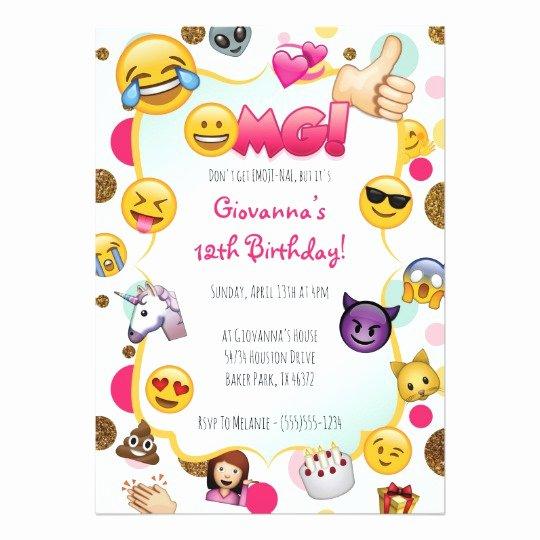 Emoji Birthday Invitation Emoji themed Invites