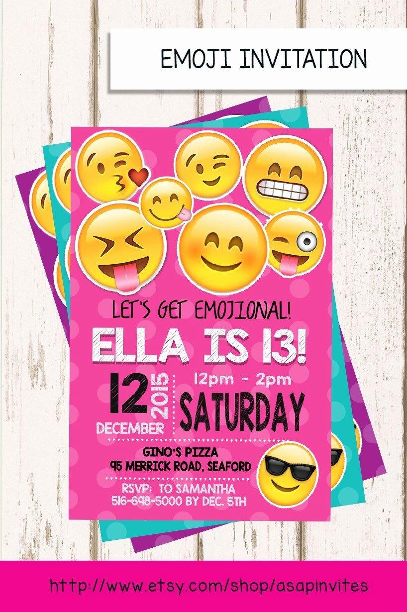 Emoji Birthday Invitation Emojis Emoji Invite