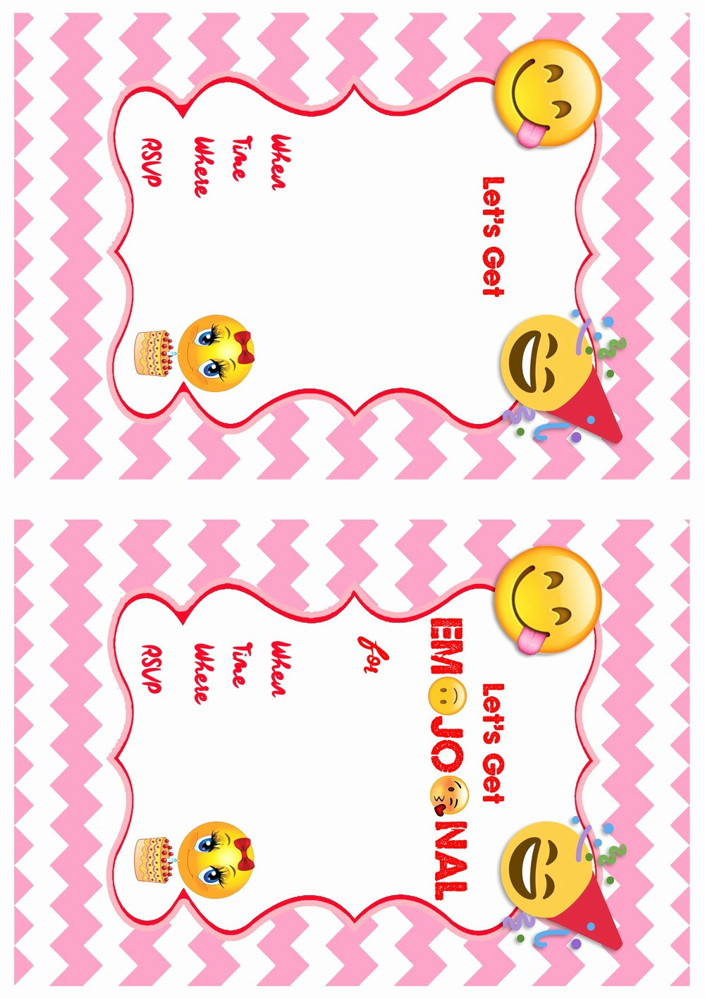 photo about Emoji Template Printable known as Emoji Birthday Invites Birthday Printable Latter