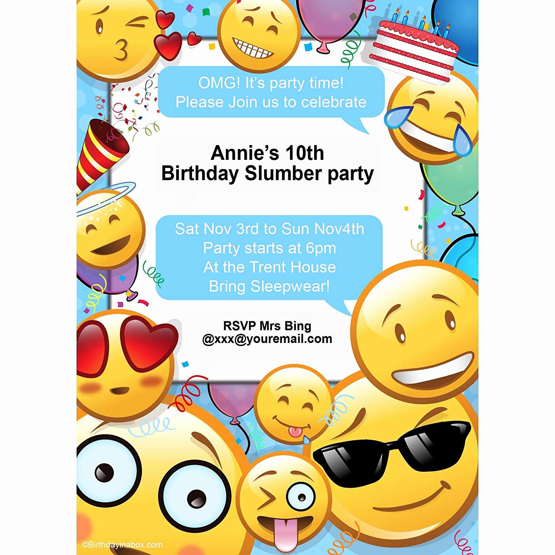 Emoji Birthday Invitations