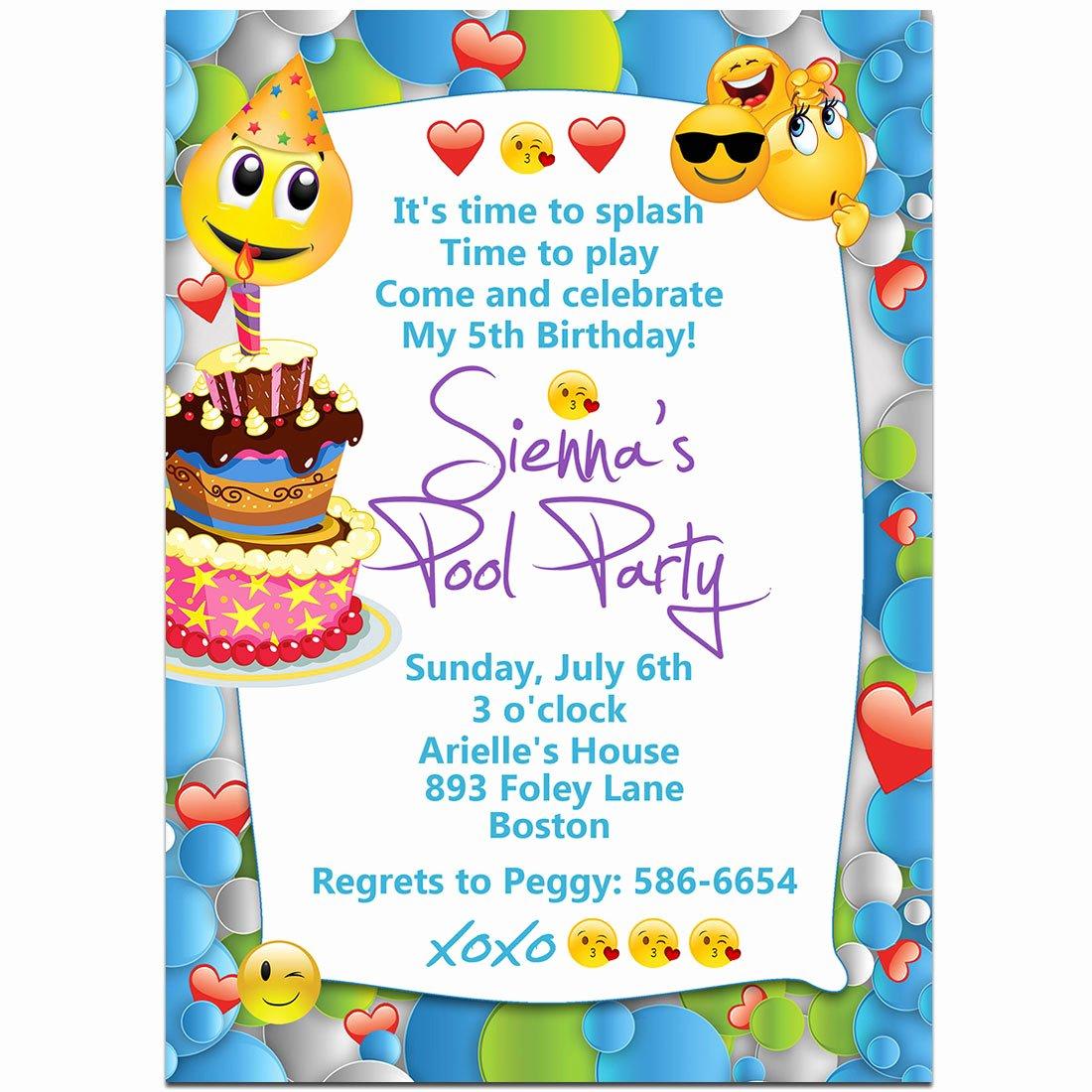 Emoji Birthday Party Invitations – Paper Blast