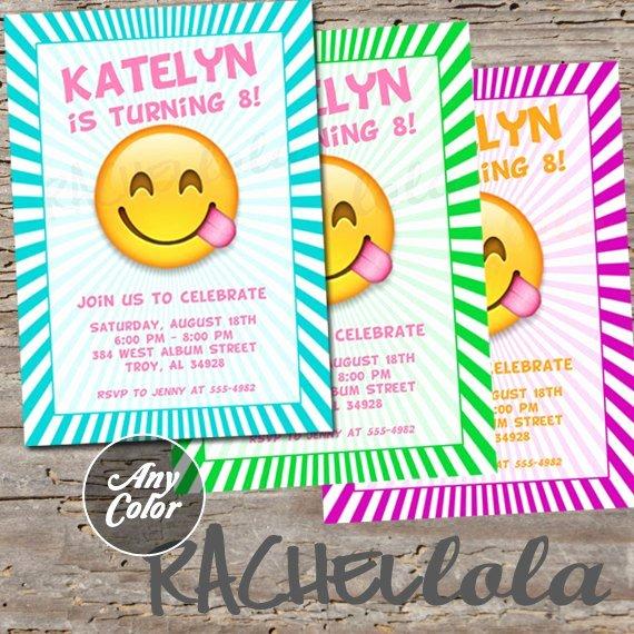 Emoji Invitation Birthday Party Invite Printable Template