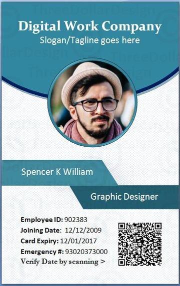 Employee Card format In Word