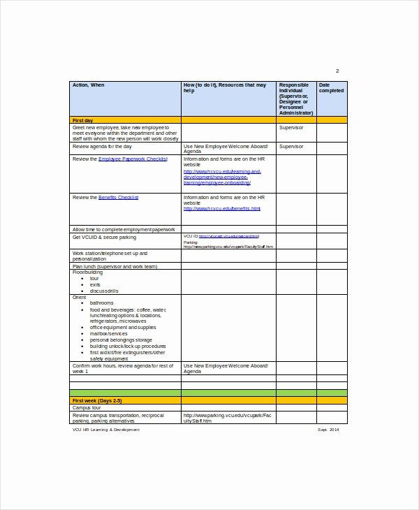 Employee Checklist Template 9 Free Word Pdf Documents