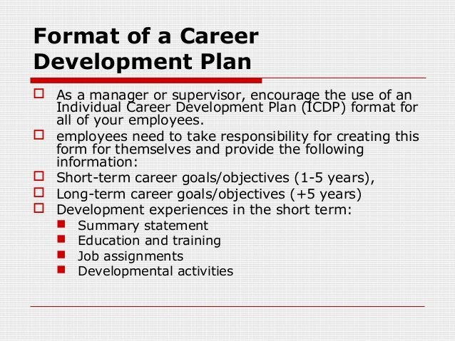 Employee Development Plans Templates