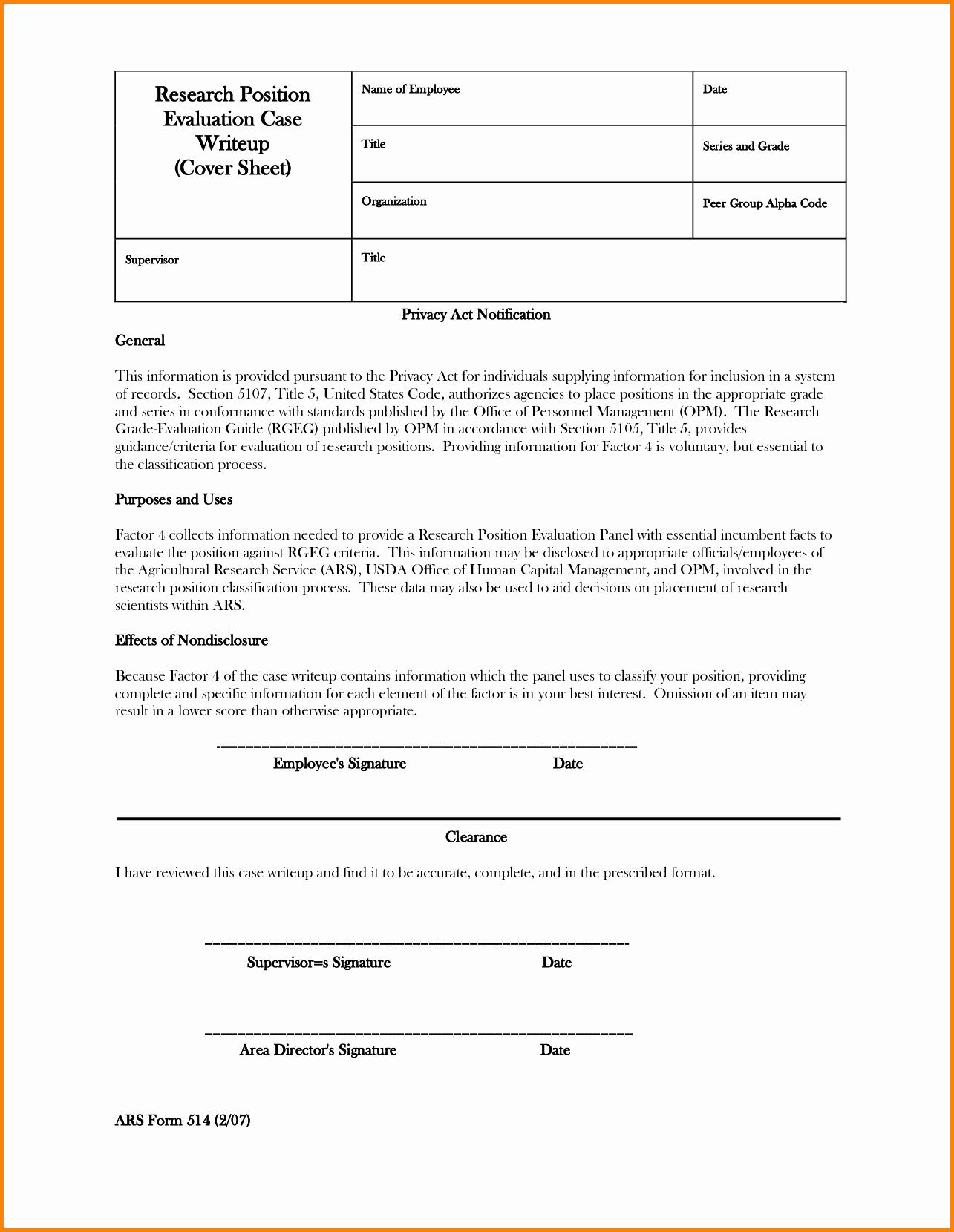 Employee Employee Write Up form