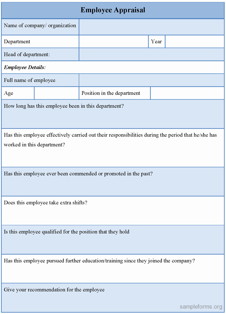 Employee Evaluation form Sample Doc Free Resume Samples