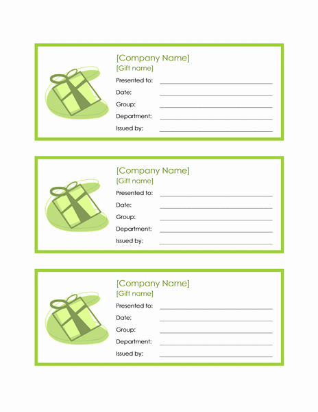 Employee Gift Certificate Template Word 2010 Free