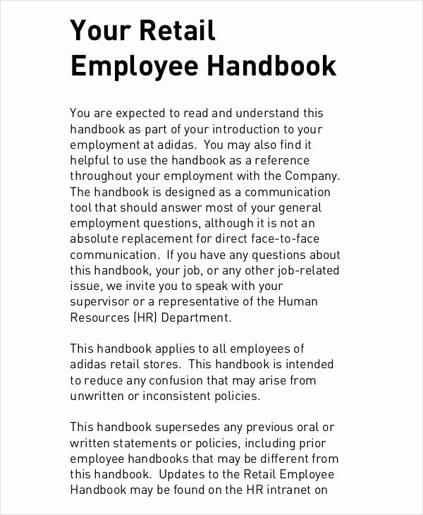Employee Handbook Sample 9 Free Pdf Documents Download