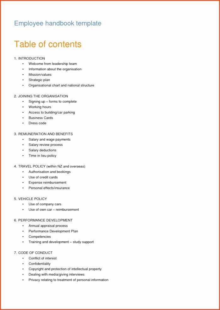 Employee Handbook Template Free Download Templates