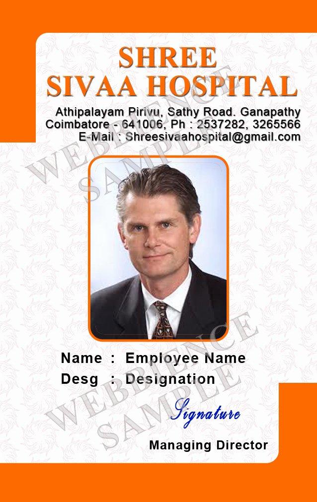 Employee Id Card Design Template Beautiful Template