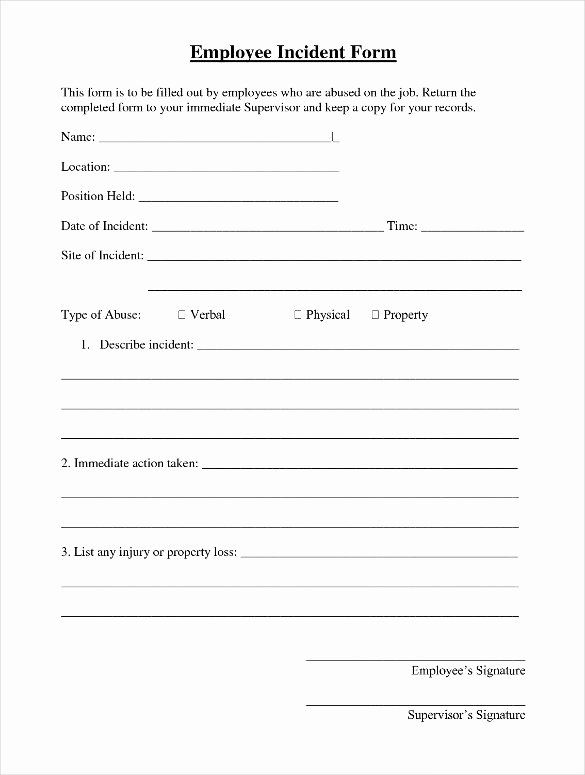 Employee Incident Report form Template Bing Images
