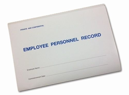 Employee Personnel Record Folder Including Templates