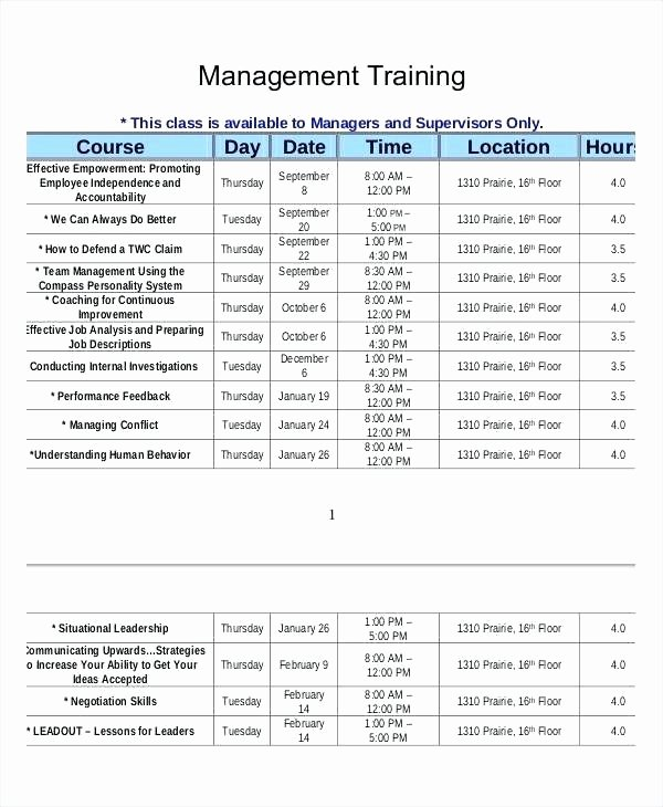 Employee Sample Outline New Training Plan Template