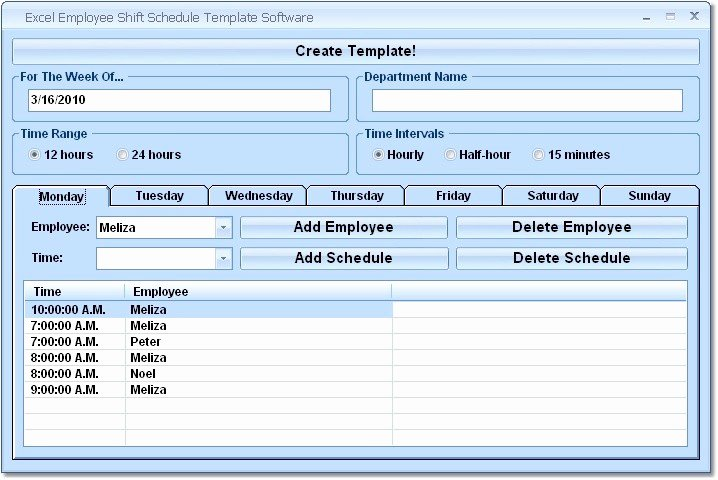 Employee Schedule Excel Search Results
