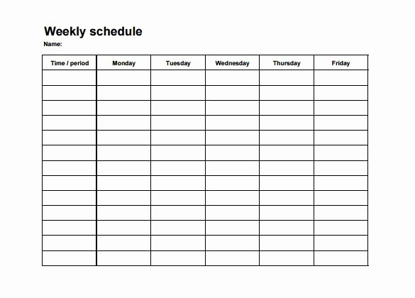 Employee Shift Schedule Template 12 Free Word Excel