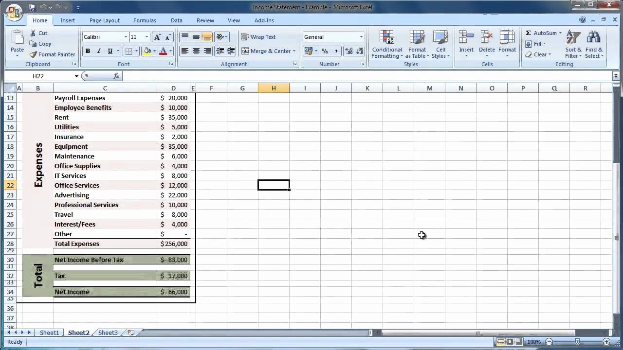 Employee Statement Earnings Template Excel