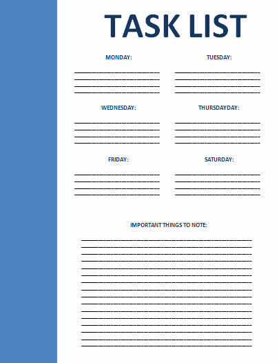 Employee Task List Template to Pin On Pinterest