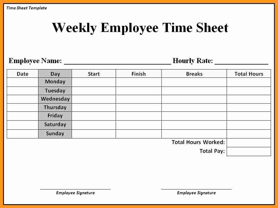 Employee Timesheet Templates