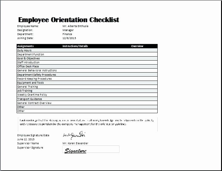 Employee Training Checklist Template Excel Best S