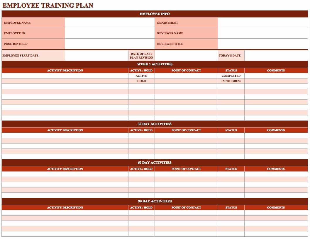 Employee Training Schedule Template In Ms Excel Excel