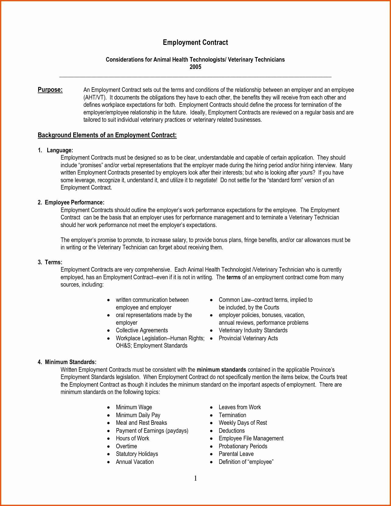 Employment Agreement Template Free the 12 Steps Needed for
