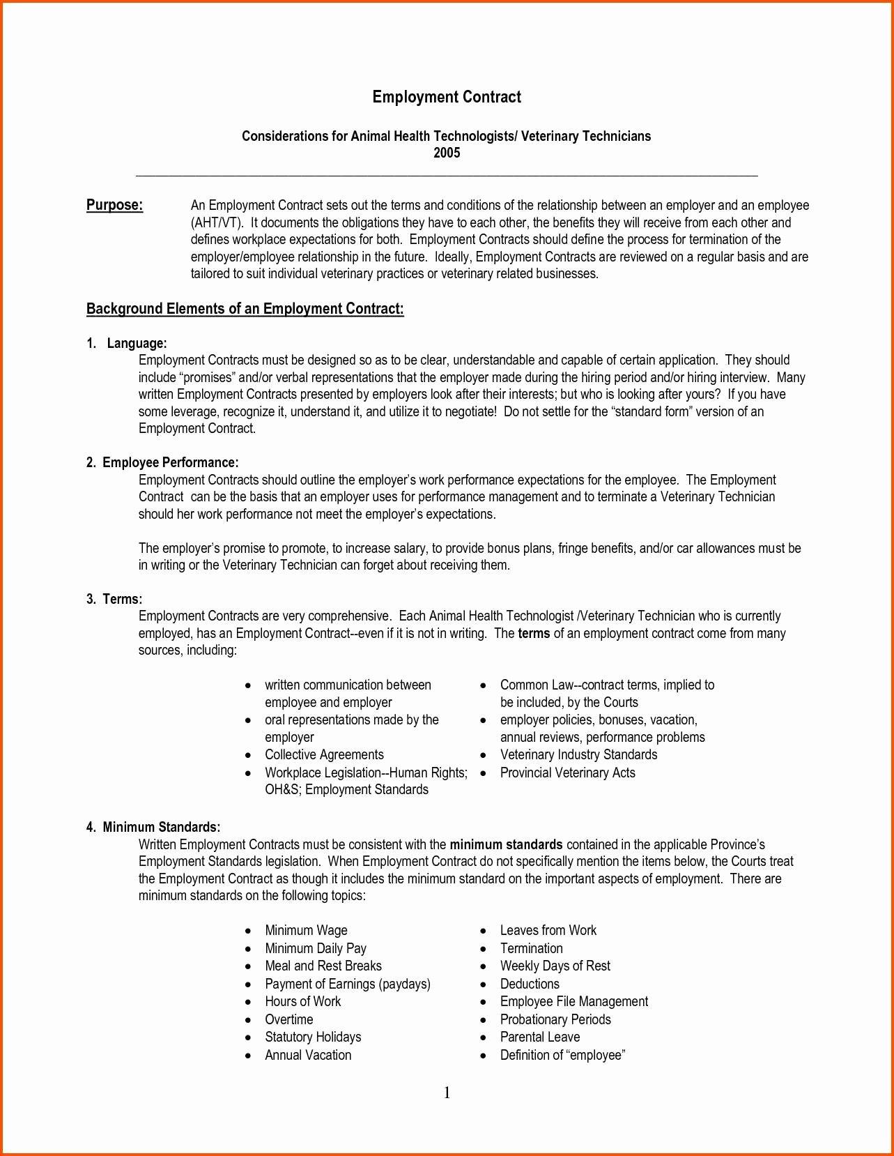 Employment Agreement Vs Employment Contract original