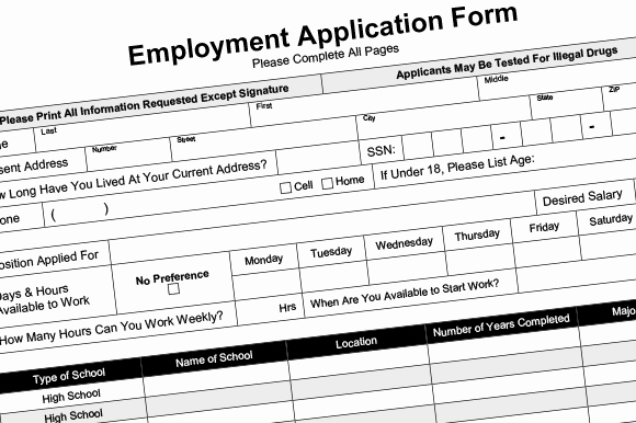 Employment Application Fillable Pdf Resume Templates On