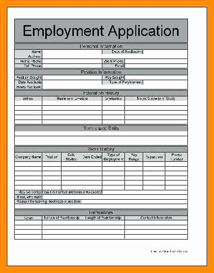 Employment Application form Pdf California 7 Free