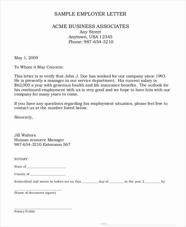Employment Verification Letter 8 Free Pdf Documents