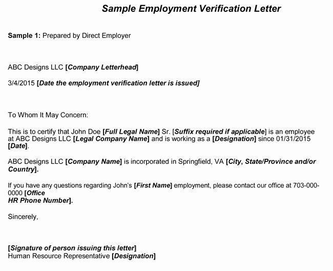 Employment Verification Request Letter Sample Letter