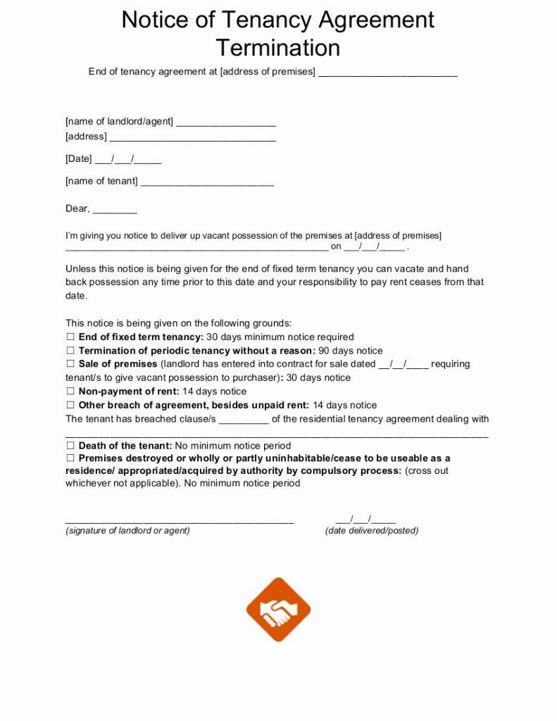 End Tenancy Letter Templates