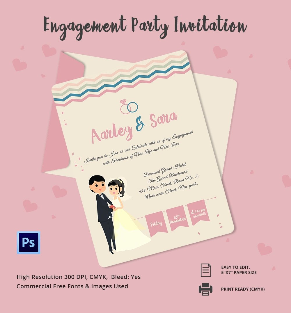 Engagement Invitation Template 25 Free Psd Ai Vector