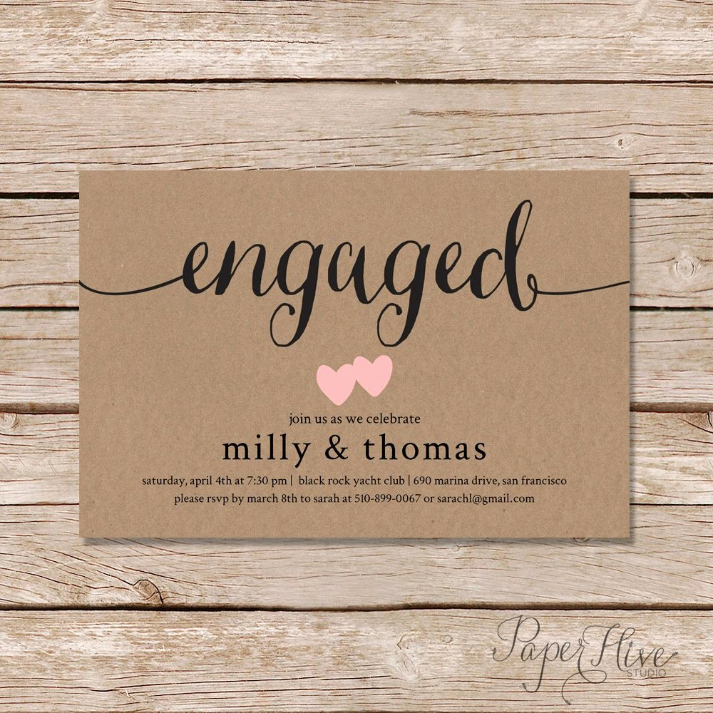 Engagement Party Engagement Party Invitations Card