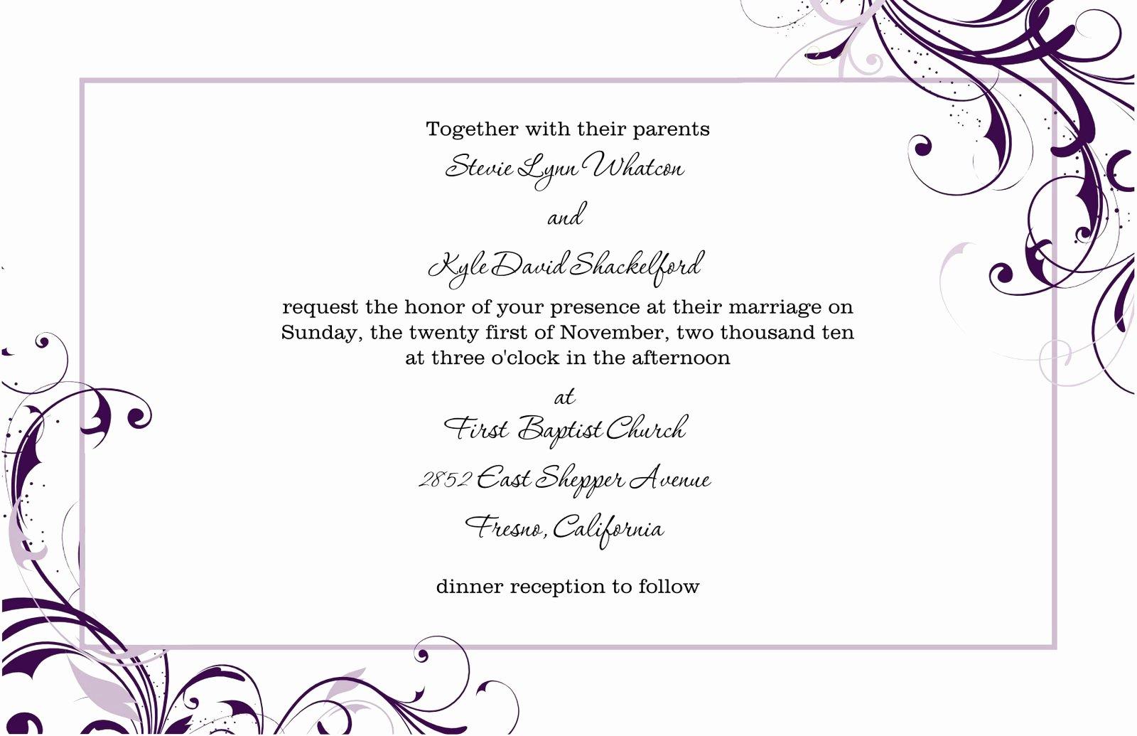 invitation word templates