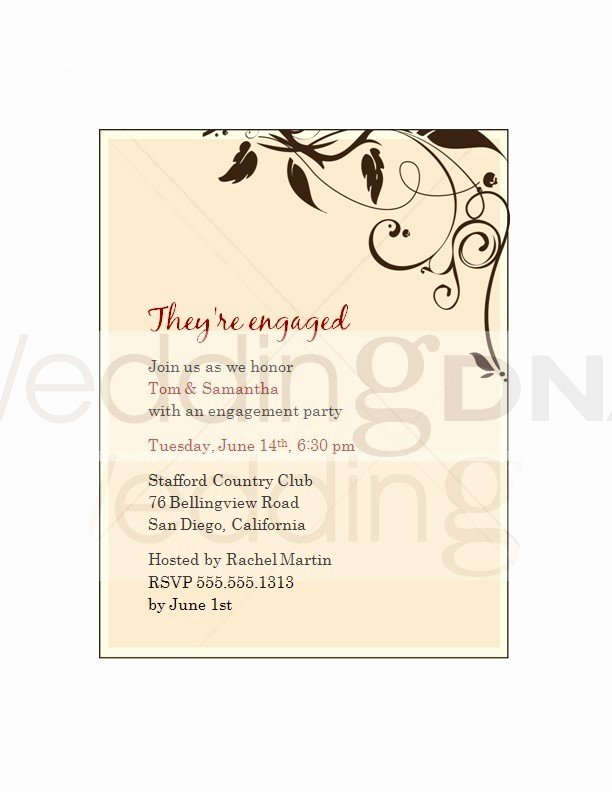 Engagement Party Invites Template