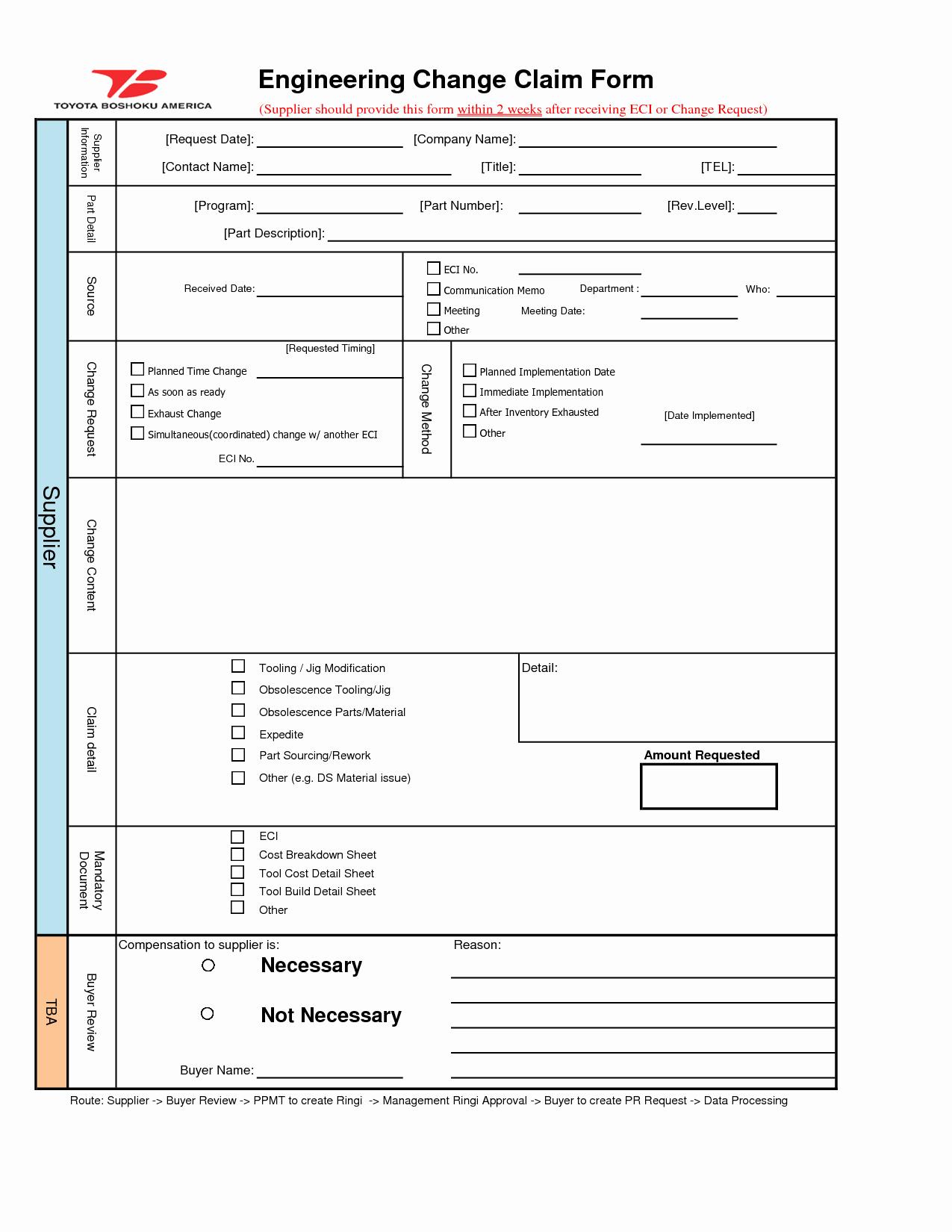 Engineering Change order Template
