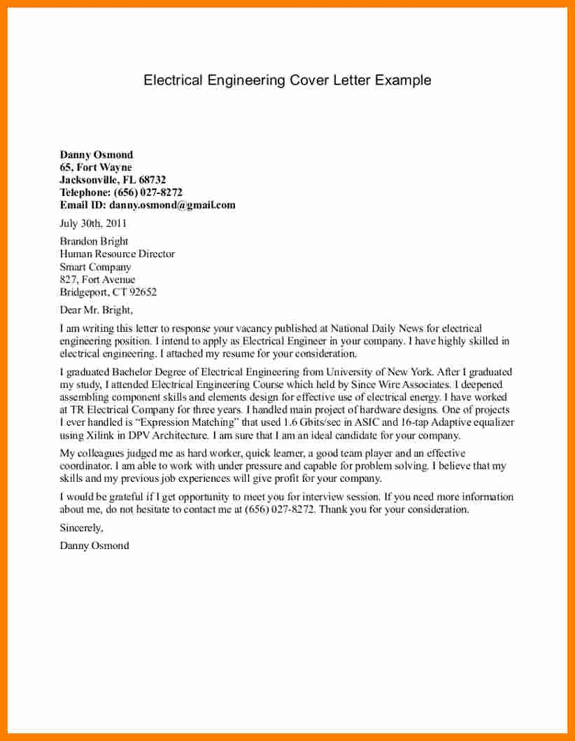 Engineering Internship Cover Letter Sarahepps