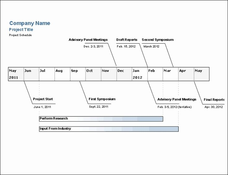 Engineering Project Timeline Template