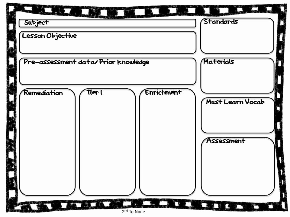Enrichment Lesson Plan Template 30 Standard Based Lesson