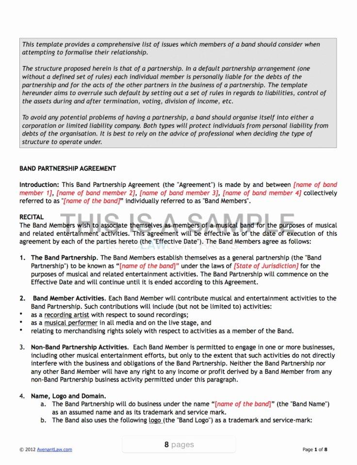 Entertainment Management Agreement Template