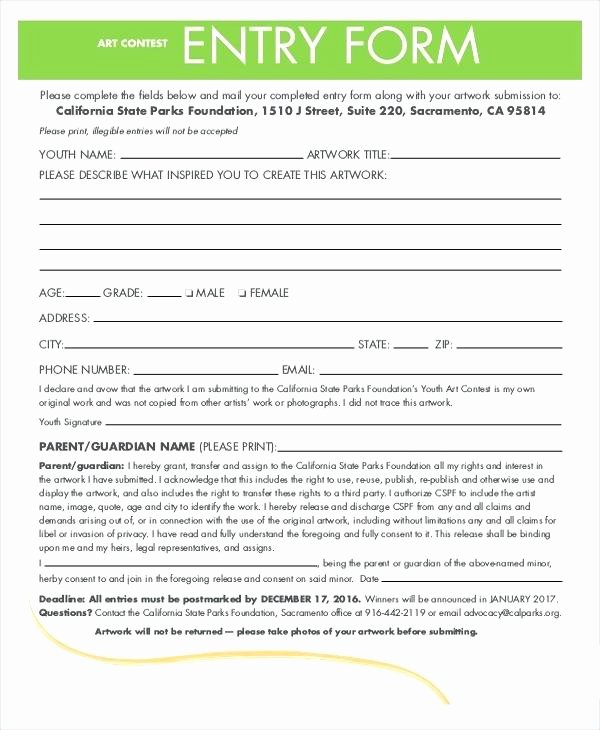 Entry form Templates Contest Template Word Free – Azserver