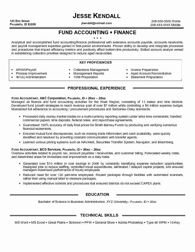 Entry Level Accountant Resume Best Resume Gallery