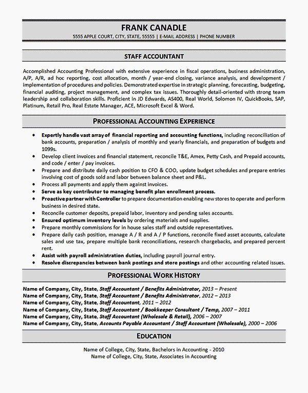 Entry Level Accountant Resume Samples